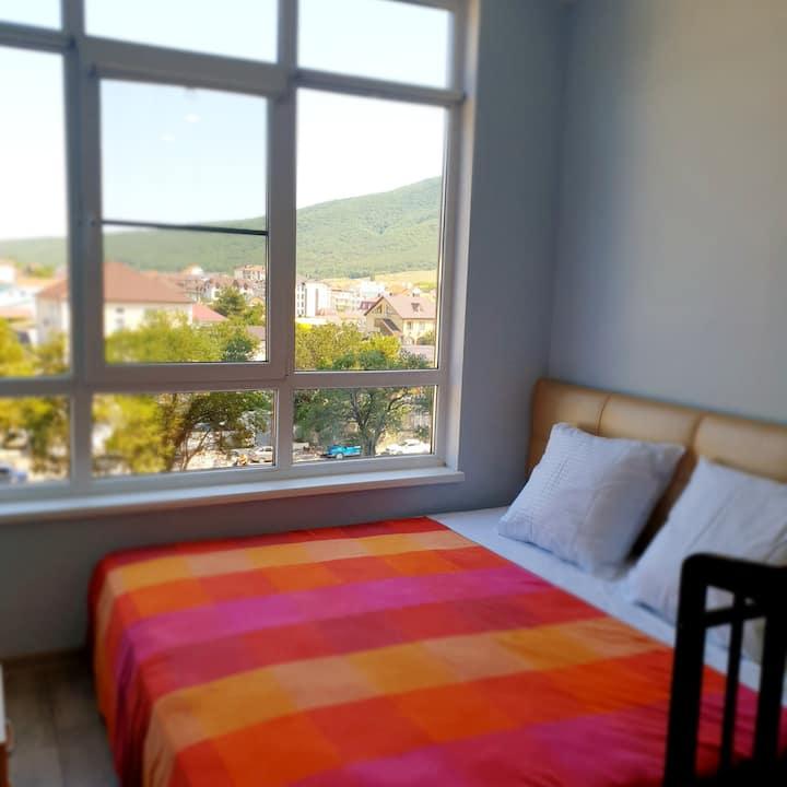Уютная квартира для семьи 300м до моря