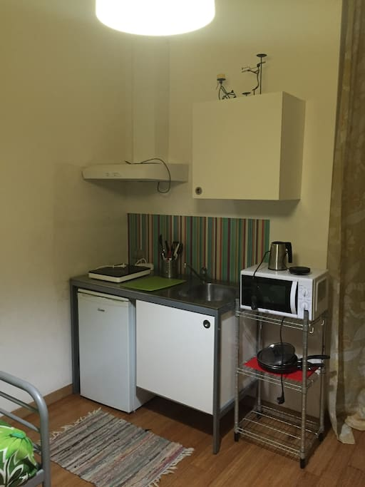 Essential but well equipped cooking area
