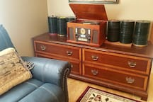 Modern Victrola Multimedia Player in Living Room Lounge