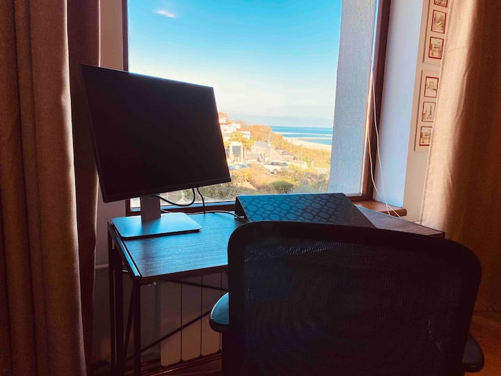 Work Remotely at Beach Front Studio