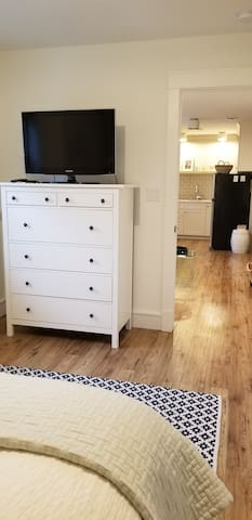 Bedroom TV and Drawers