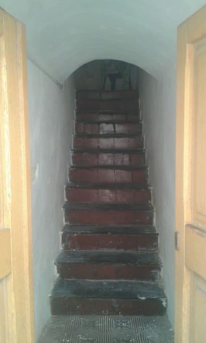 La scala d'ingresso