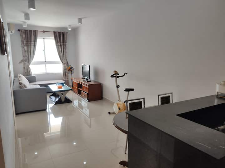 Apartment 1BR 2WC 60m2, High Floor, Sea View.
