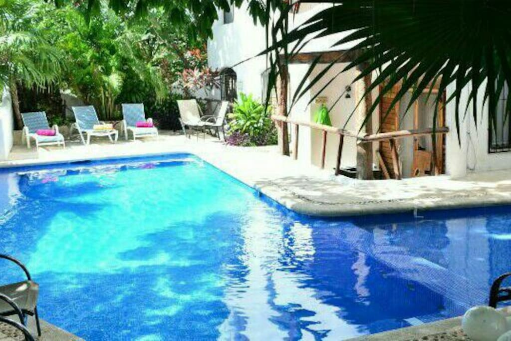 Comfortable pool and terrace, almost for yourself at all time