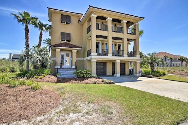 Luxurious House w/ Lagoon View - Steps to Beach!