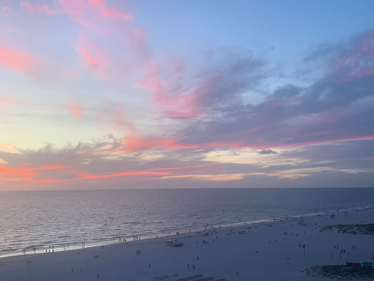 Clearwater Beach sunset taken from our balcony