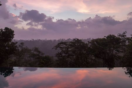 Panoramic valley view, tranquil, 15m infinity pool - Ubud - Huvila