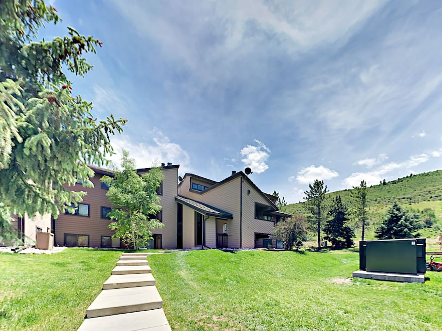 Your unit is located across the street from Beaver Creek ski parking.