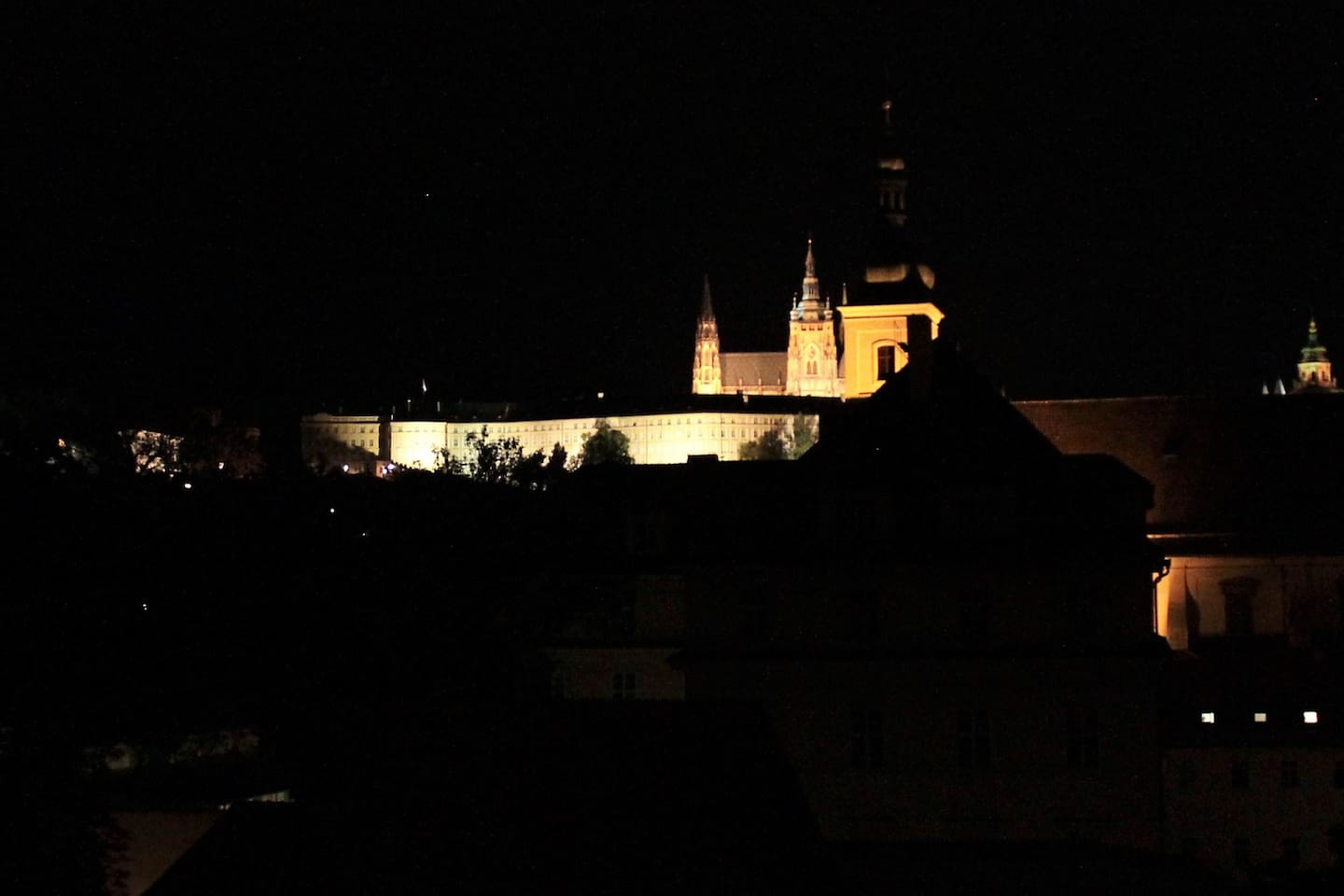 Prague Castle...right out the window and a short walk away and up the castle hill.