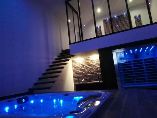 Loft spa design avec sauna