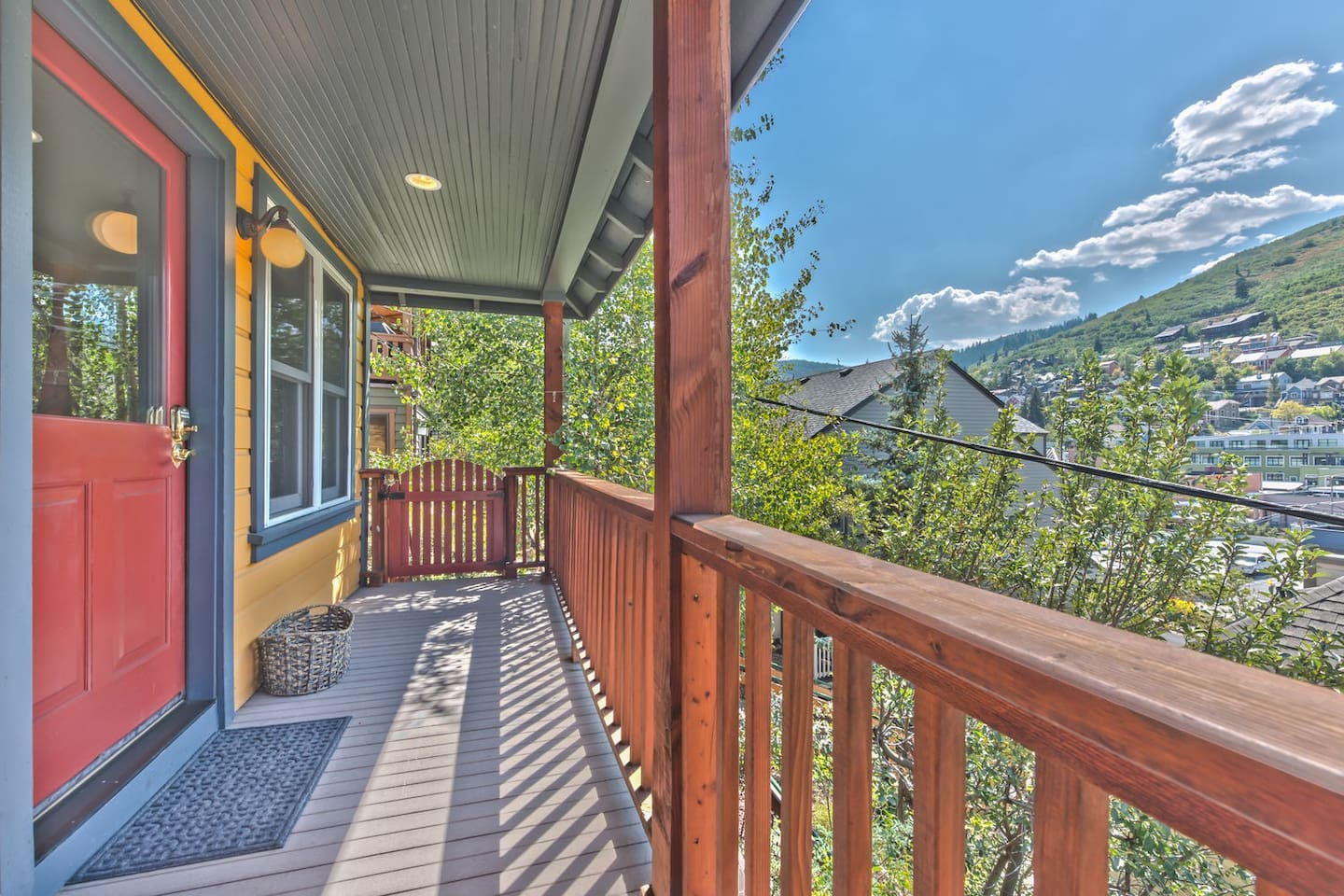 Front Entry Deck to Ontario Overlook B with Amazing Views of Old Town Park City and Park City Mountain Resort