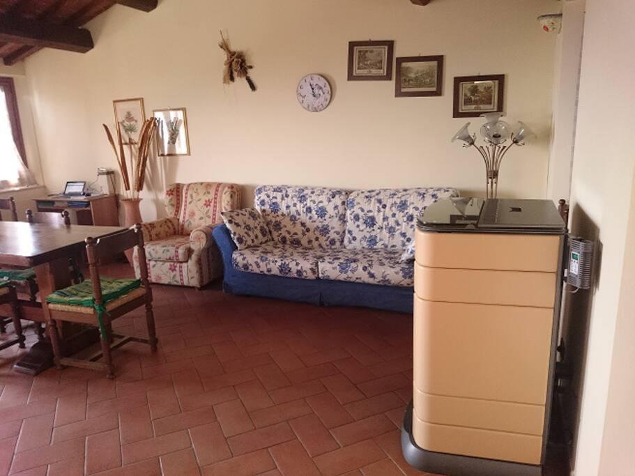 cucina/soggiorno kitchen living room