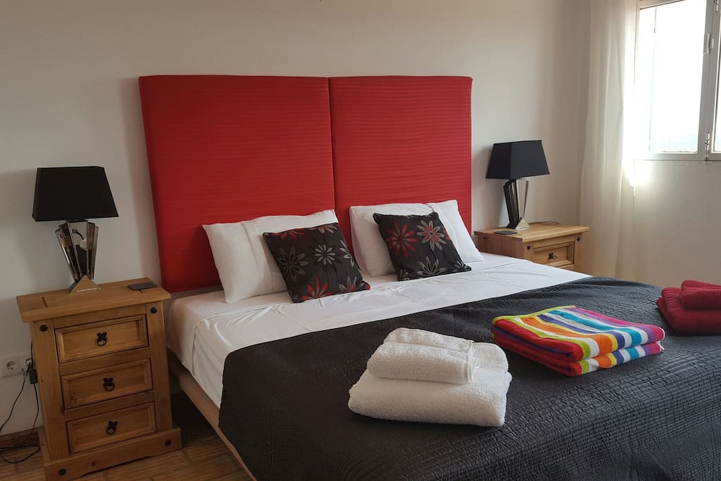 Bedroom 2. With large double bed that can be two singles if required.