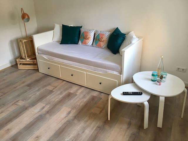 Wohnzimmer mit Ausziehbett