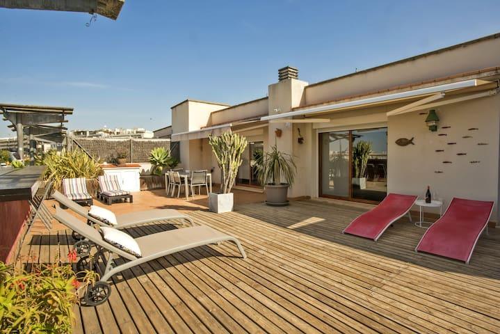 Los Condes - Sitges Big Terrace SEA VIEW & Parking
