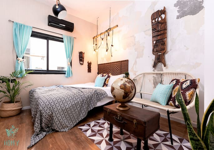 Sunny & Cool studio apartment on Dizengoff St. #6
