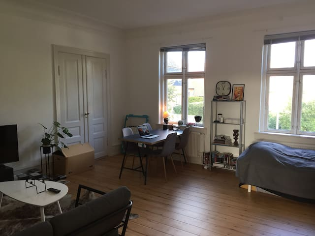 Stort værelse i en stor lejlighed midt i Hillerød