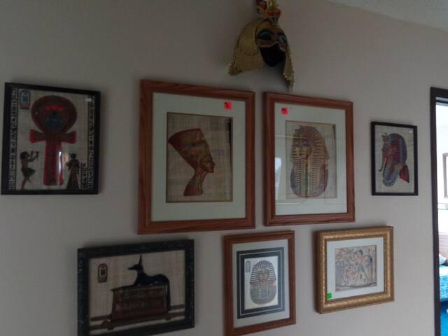 In-house art gallery