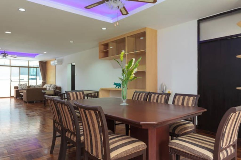 Large Dining area, for your family and friend to enjoy your home food meal
