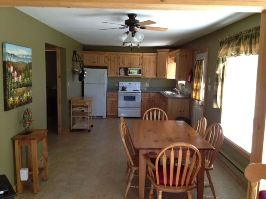Kitchen opens to family room.  Bright and airy with all the conveniences.