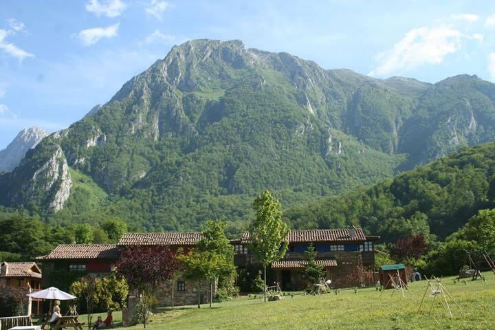 Casas de madera y piedra, jacuzzi, Parque Natural. - Asturias - House
