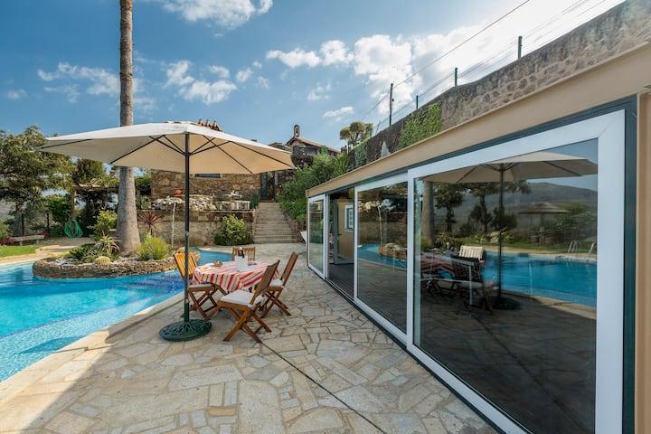 casa de Ferias com piscina privada