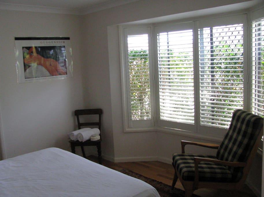 Bay window in main bedroom