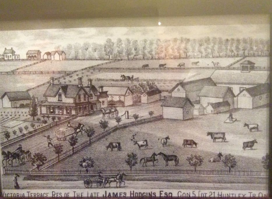 This is an artist sketch of our house in the 1800's taken from the book The Carleton Saga