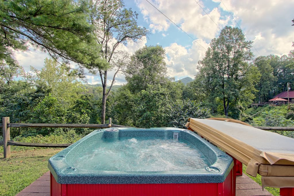 2 Hot Tubs on the property.....