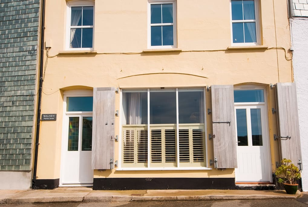 Walney Studio is the ground floor of this beach house.