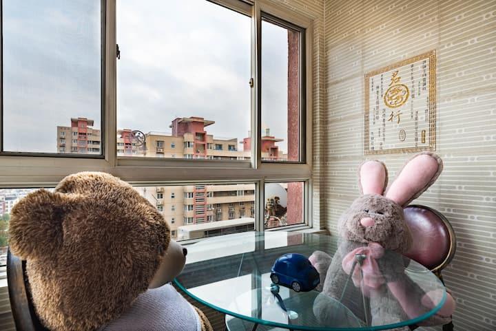 (已消毒)两室温馨ins玩具主题风格民宿(儿童医院刘园地铁旁可做饭)资深吃喝玩户外老板等您来