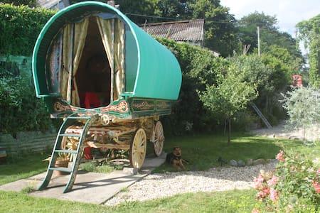 Gypsy Wagon on Fowey Estuary