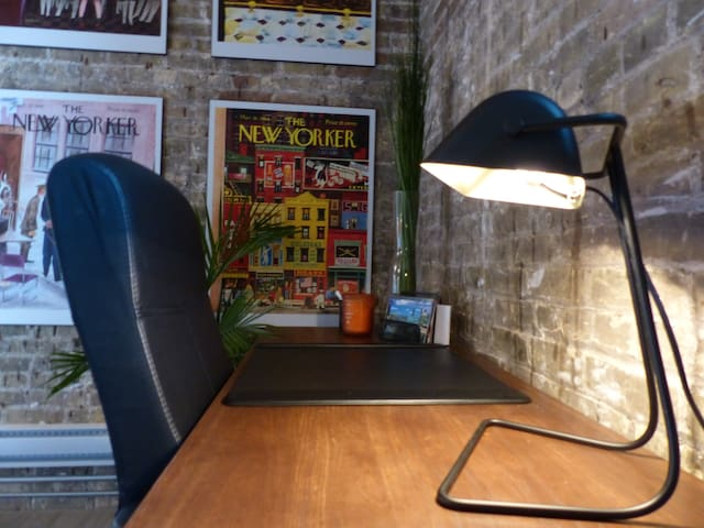 Office space of your own should your's be a work-related visit.