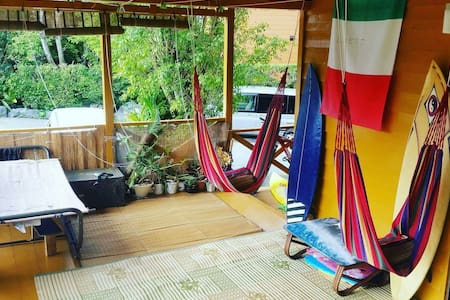 Private room Tropical surf house - Onna, Kunigami District - Bed & Breakfast