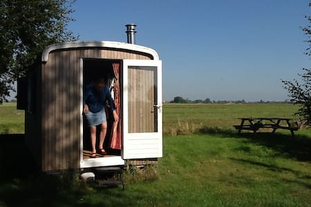 Idyllic gipsy wagon: quiet with a beautiful view - Wirdum - Other