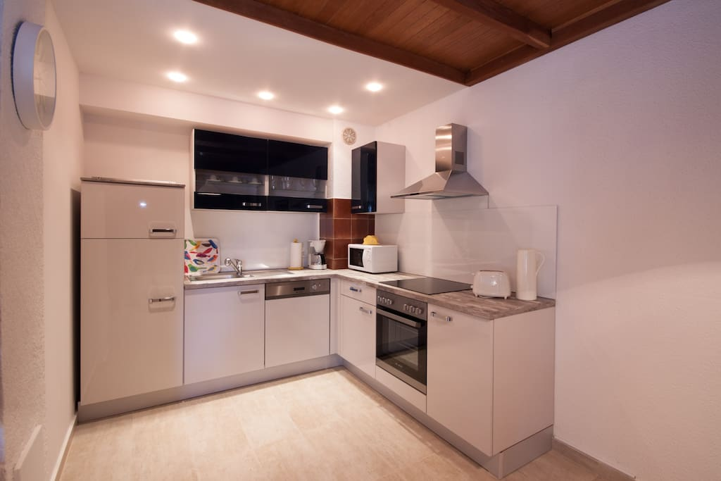 New and modern, fully equiped kitchen.
