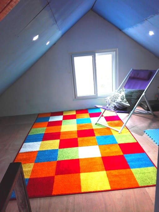 Small space to read in the attic