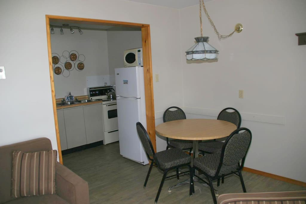 Kitchen and eating area