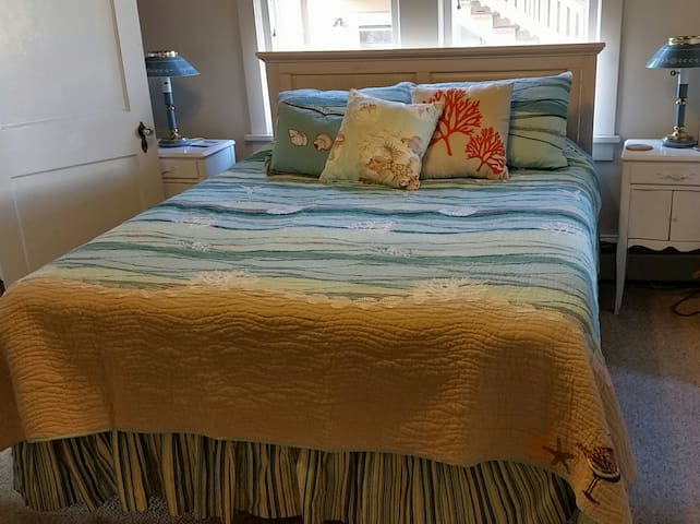Enjoy this queen-size bedroom, which is part of a beach-view bungalow in scenic and historic Cape May, NJ