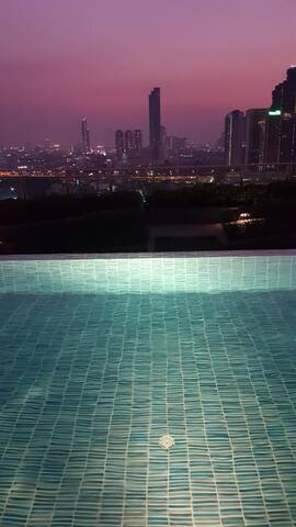Infinity Pool with Salt Water