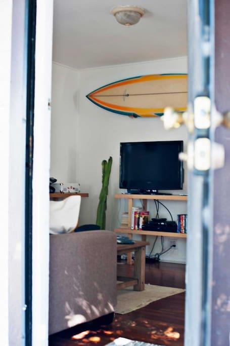Photo provided by Zubi Design.   We were lucky enough to have them as guests in our Airbnb! http://zubidesign.com/es/california-2-surf-shack/