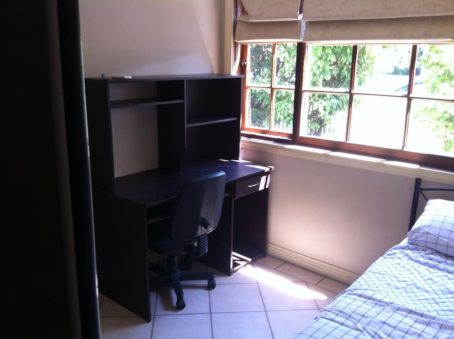 Available room with study desk