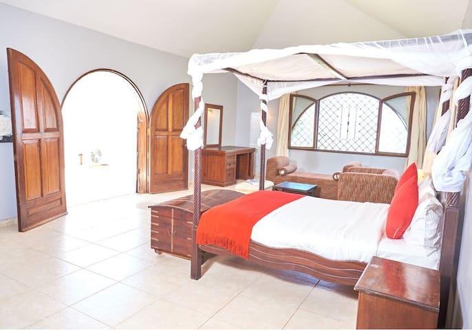 semi master bedroom with ocean view