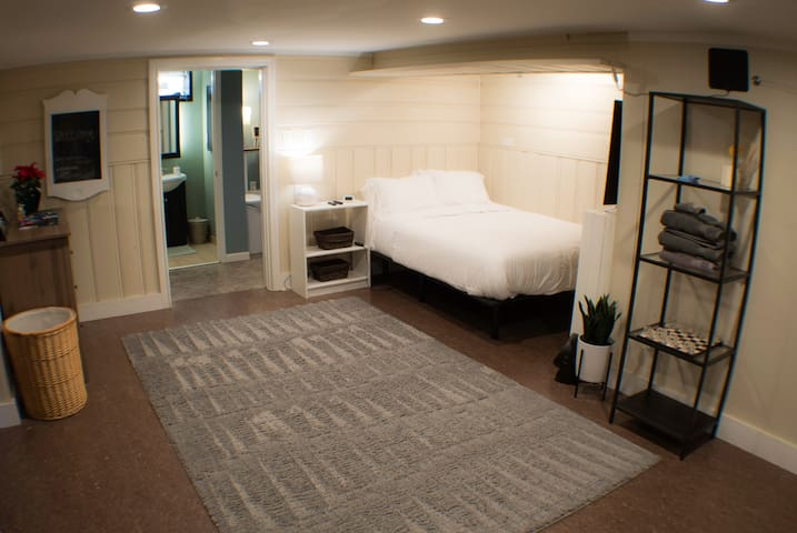 Private suite and bathroom with keypad entrance