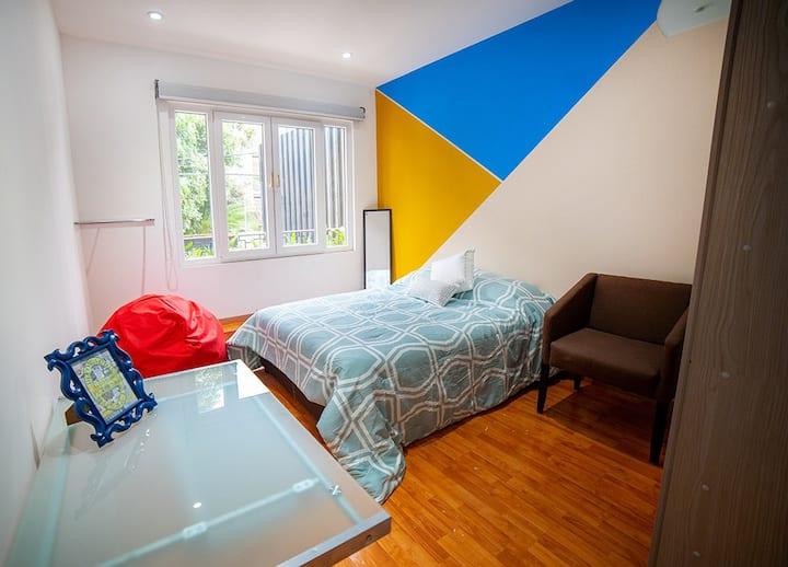 Cozy & Cool room near Masaryk/Horacio 1A