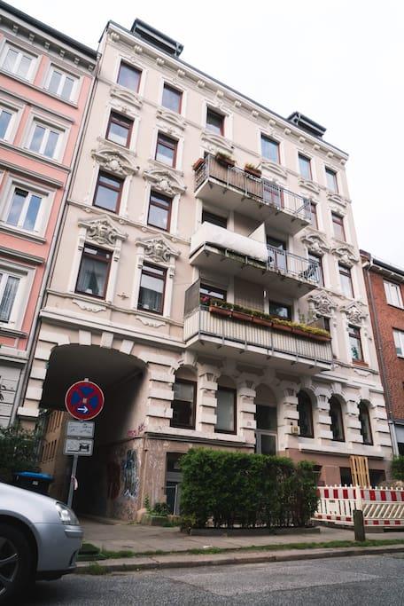 Das Wohnhaus von außen