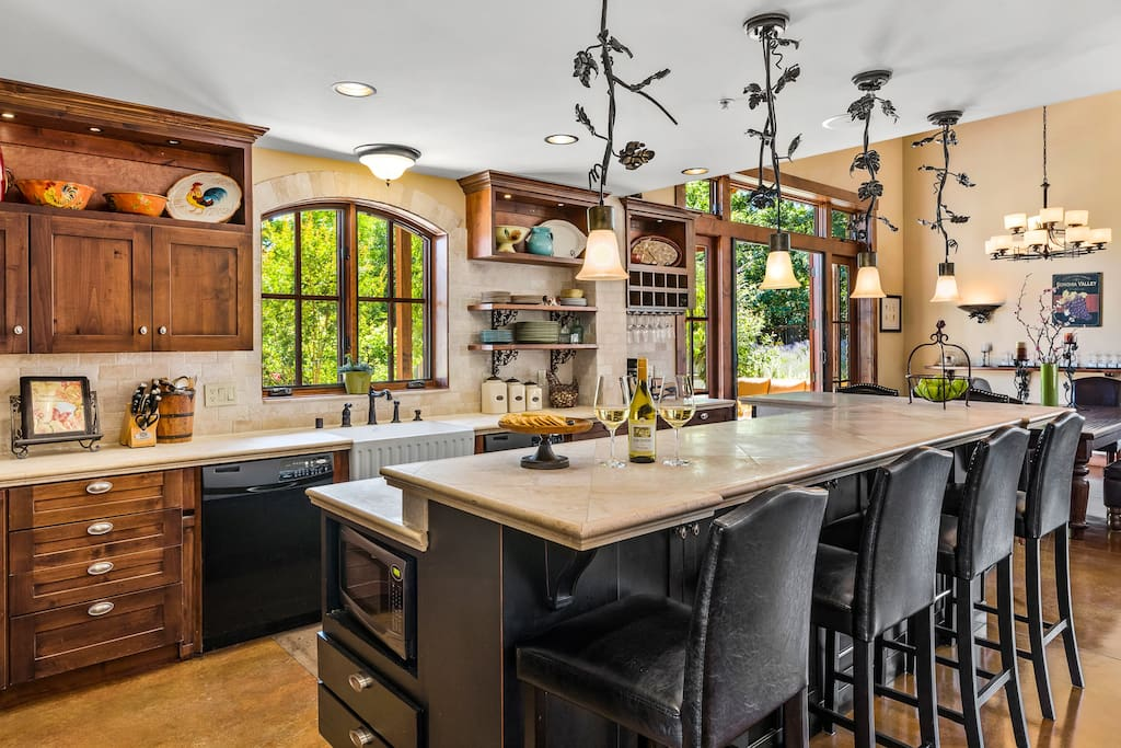 Our huge gourmet kitchen has everything you need for fabulous entertaining!