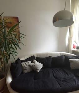 Bequeme Couch in großer Wohnung - München/Sendling - Apartment