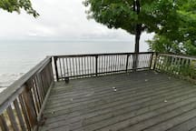 We have some deck furniture that is available for use (table, chairs, muskoka chairs)!