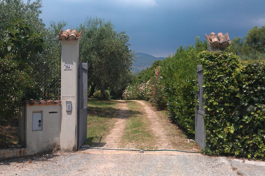 the entrance to the property